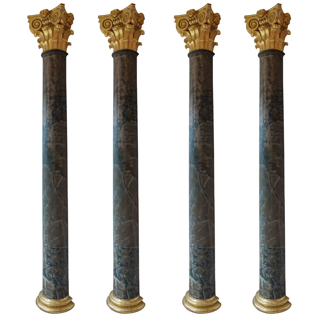 Faux Marble Pilasters