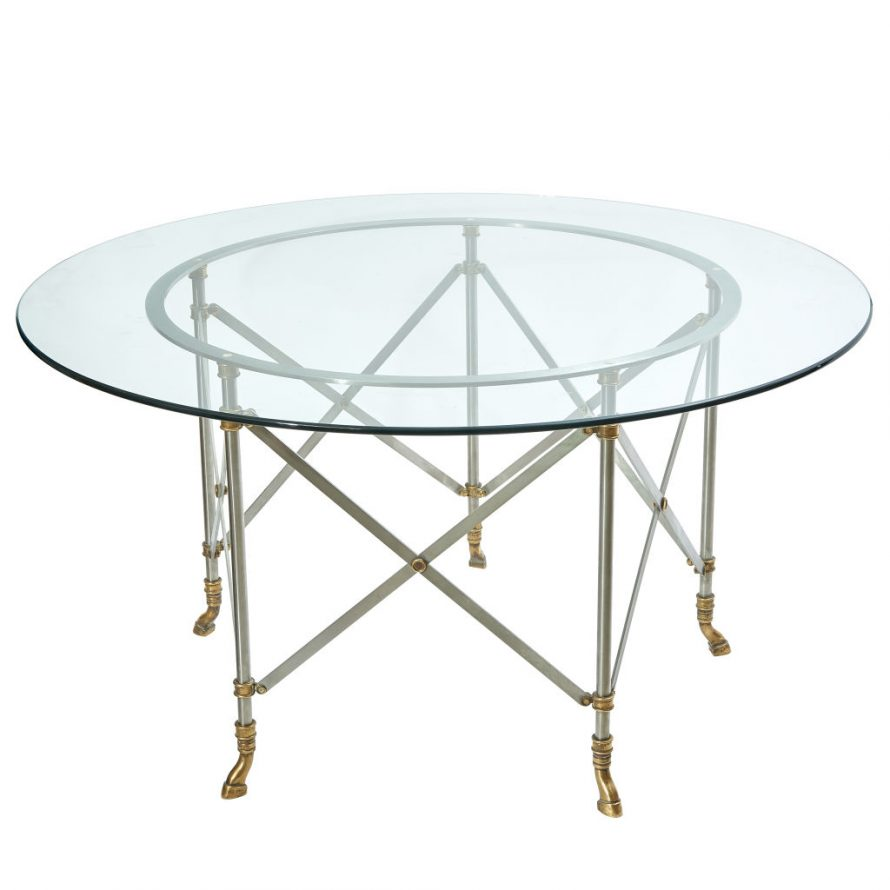 1960s Glass Top Dining Table