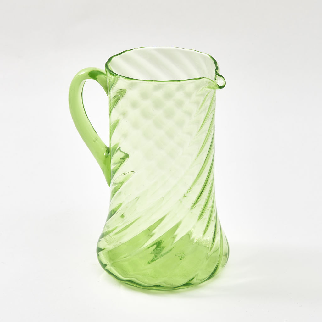 Green Spiral Water Jug