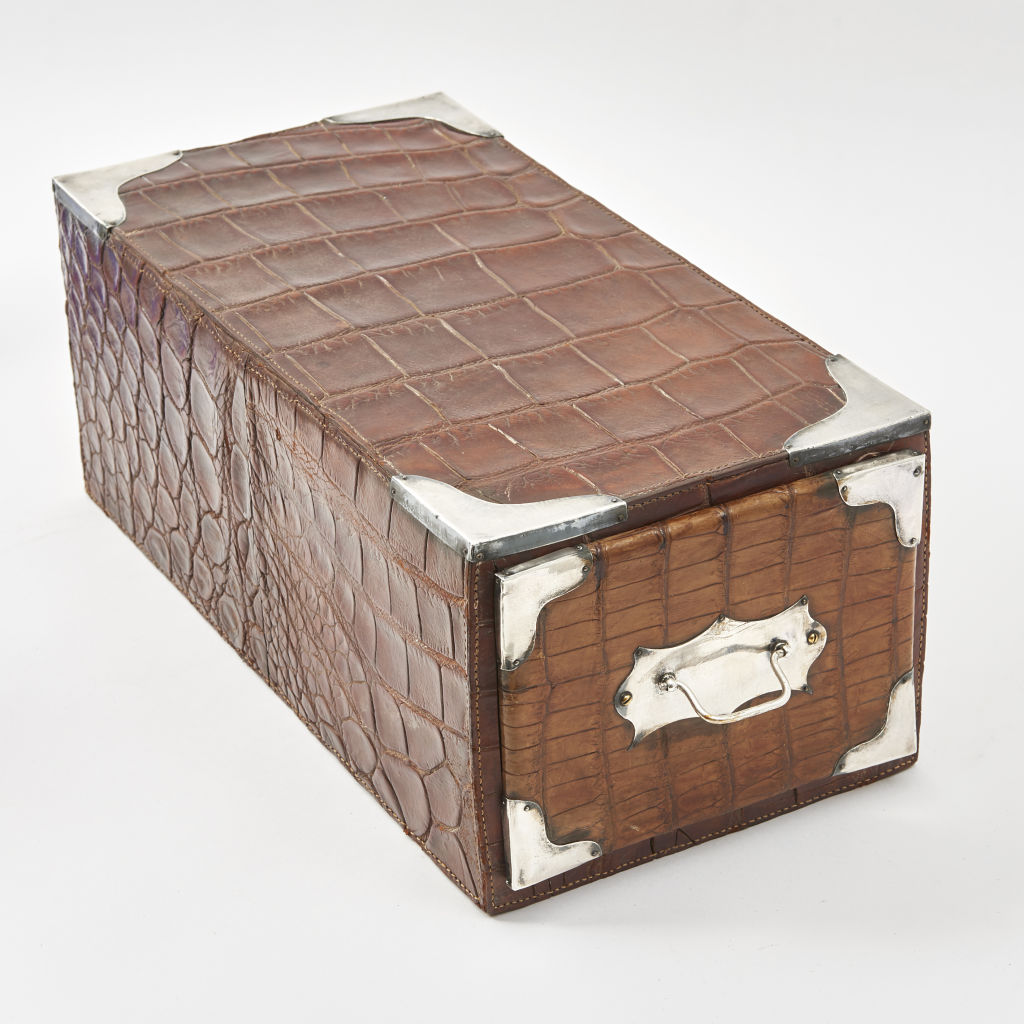 Unusual English Crocodile Filing Box