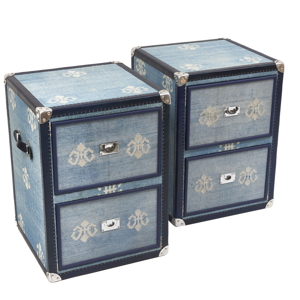 Dhurrie Covered Bedside Cabinets