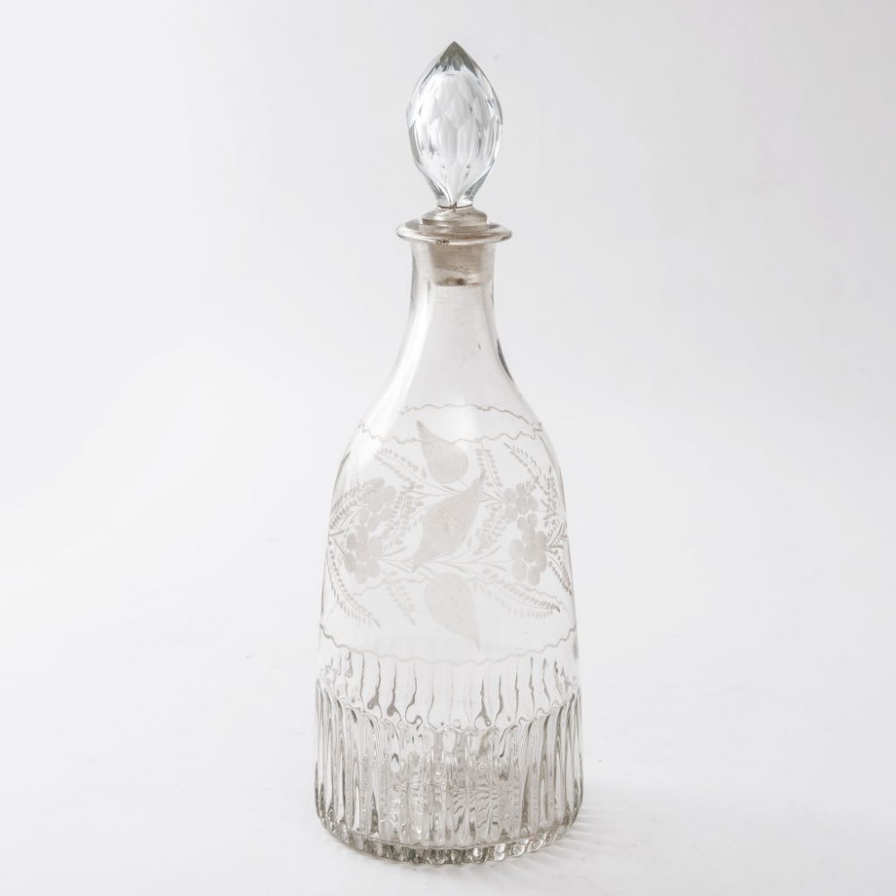 French Etched Magnum Decanter