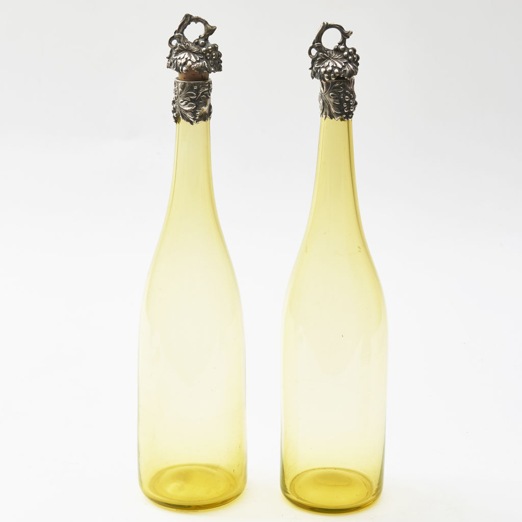 Yellow Glass Decanters