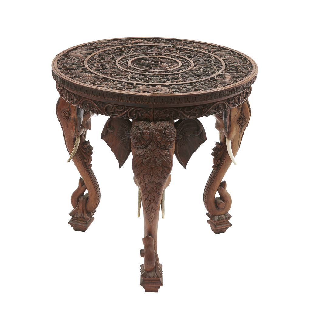 Carved Rosewood Table