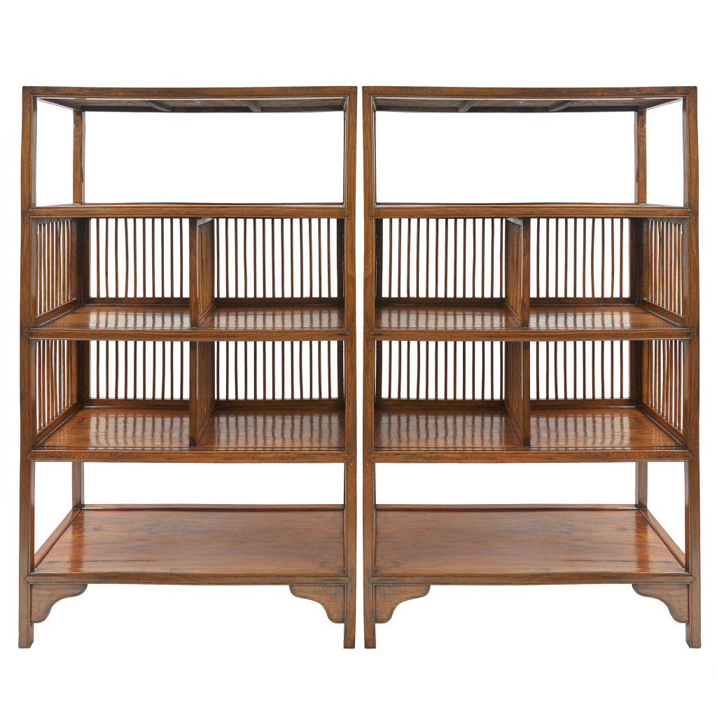 Chinese Slatted Bookcases
