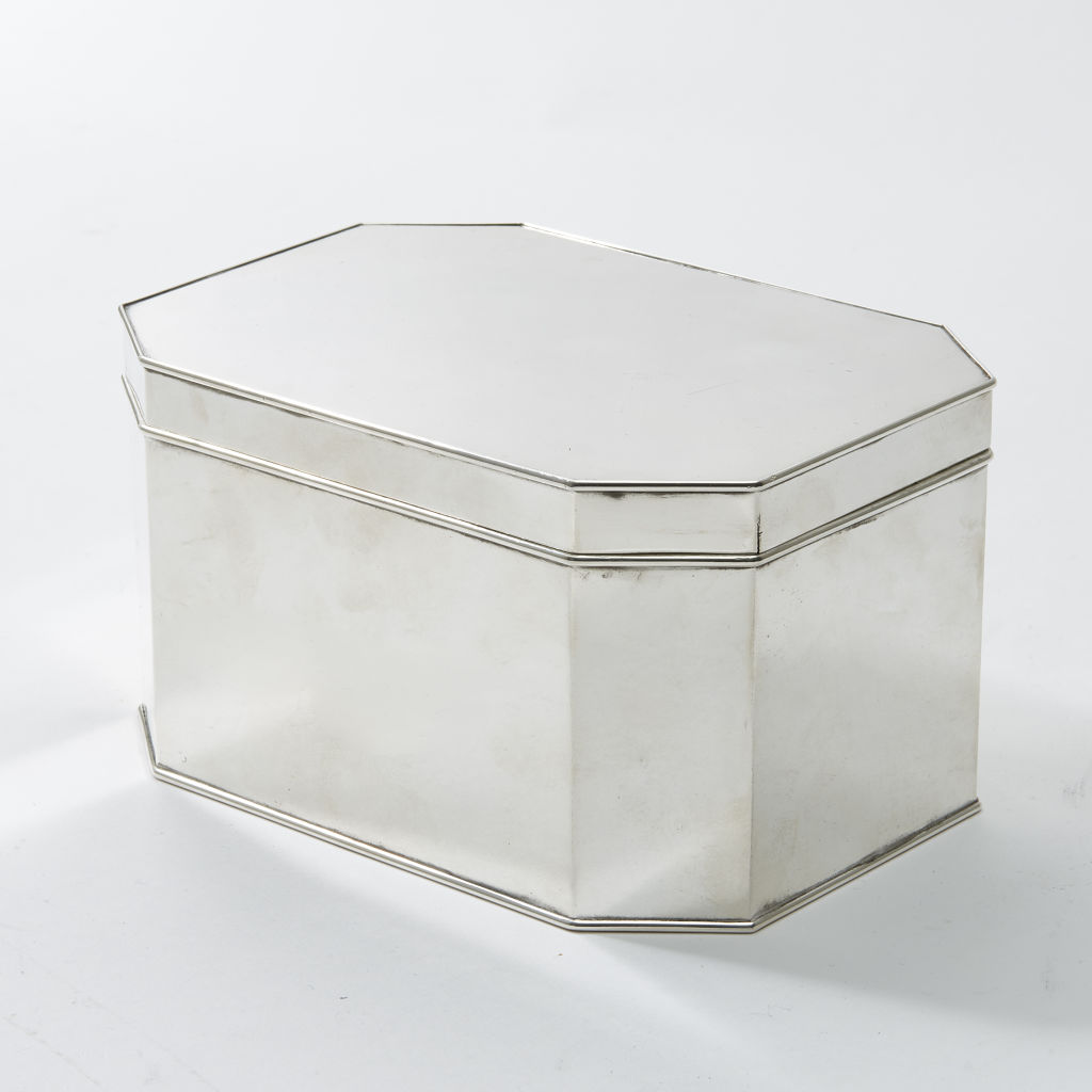 Silver Plate Octagonal Box