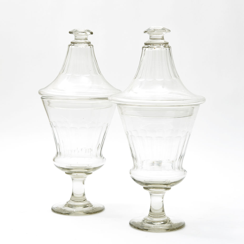 Cut Crystal Pharmacy Jars