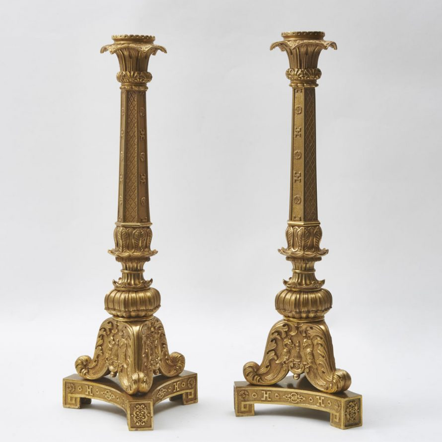 Large Charles X Candlesticks