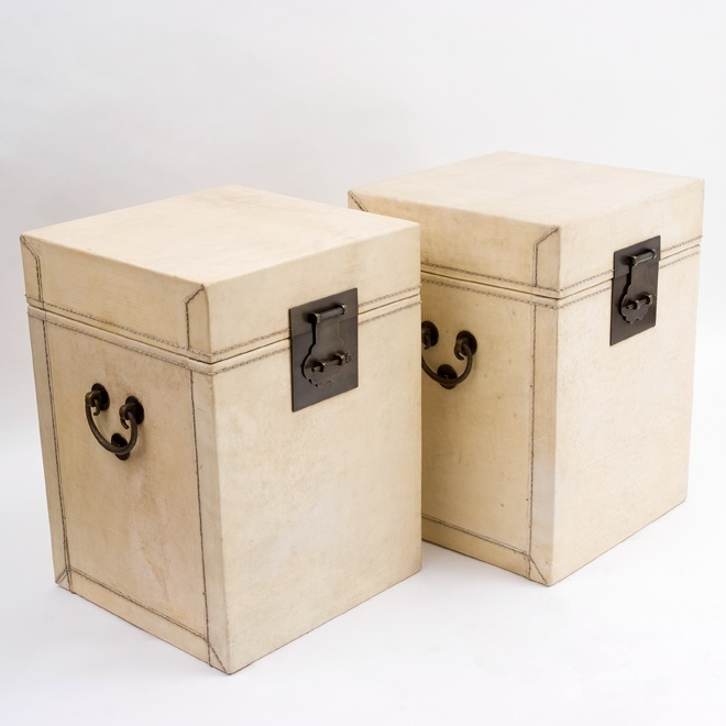 Pair Chinese Vellum Trunks