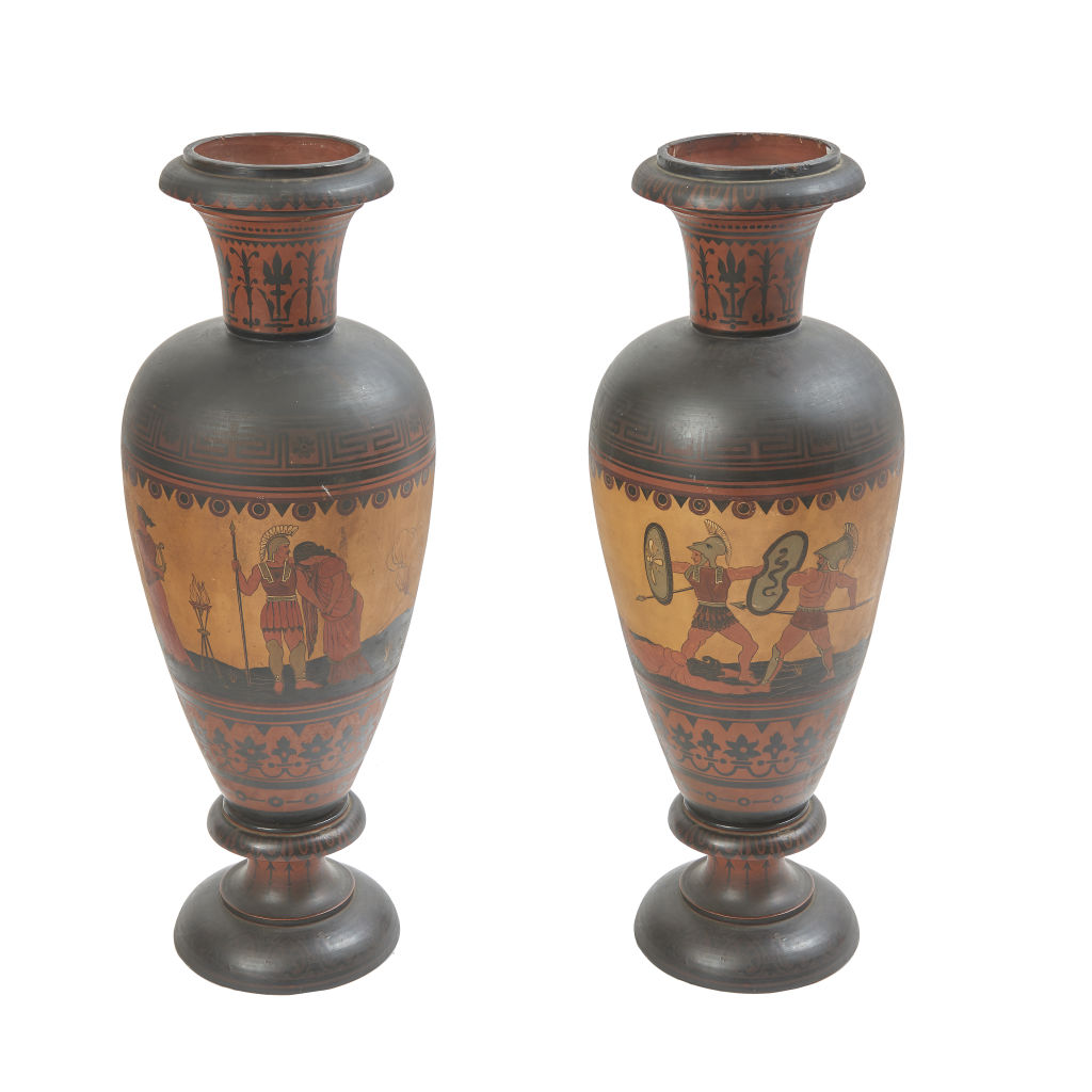 Large Attic Style Urns