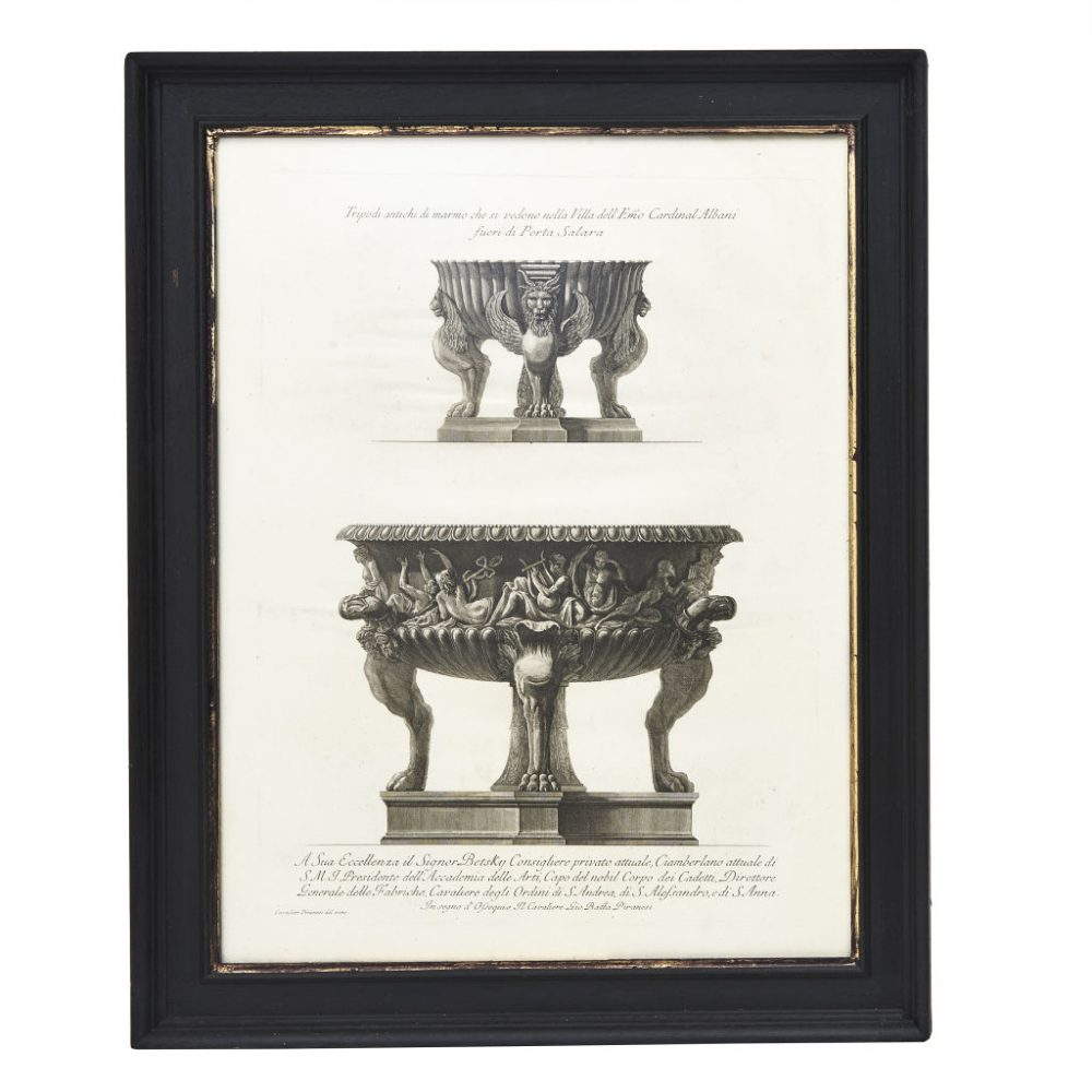 Piranesi of a Tripod Urn