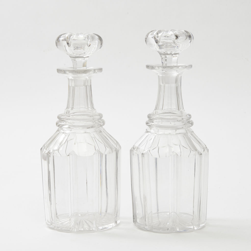 Pair Georgian Crystal Decanters