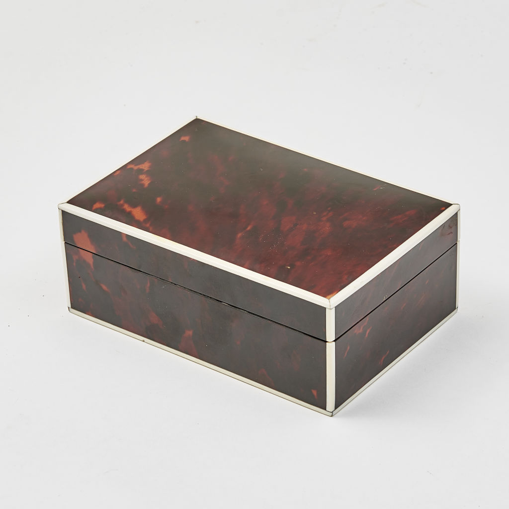 English Art Deco Tortoiseshell Box