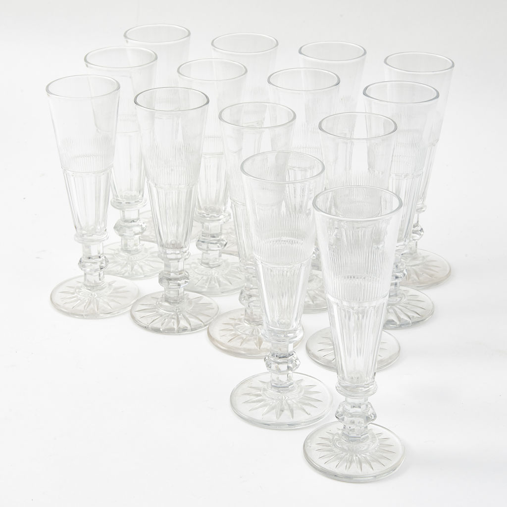 Slice Cut Champagne Glasses