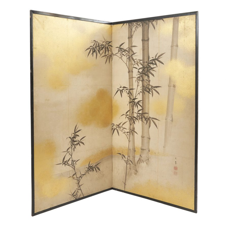 Screen with Bamboo Decoration