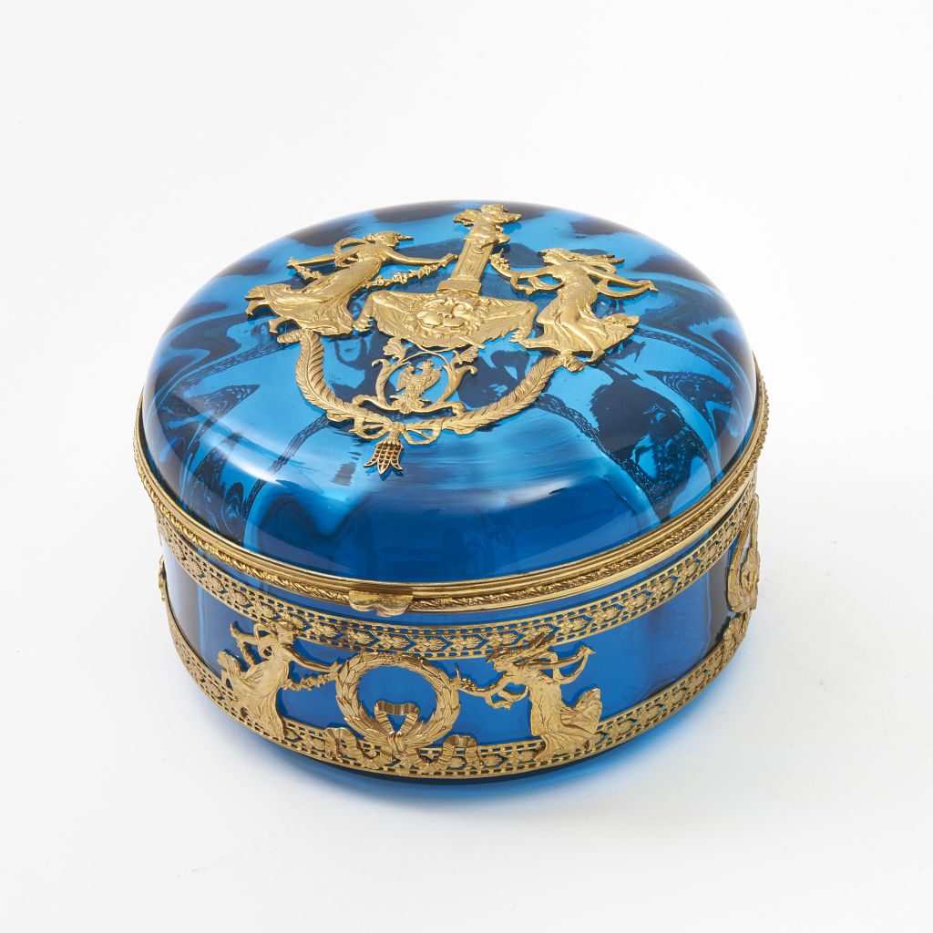 French Neoclassical Turquoise Box