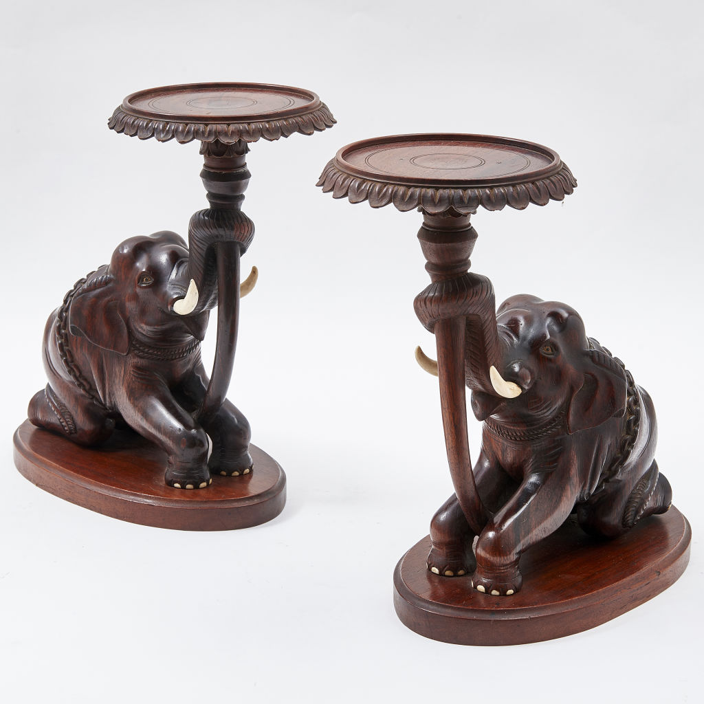 Pair Anglo Indian Elephant Stands