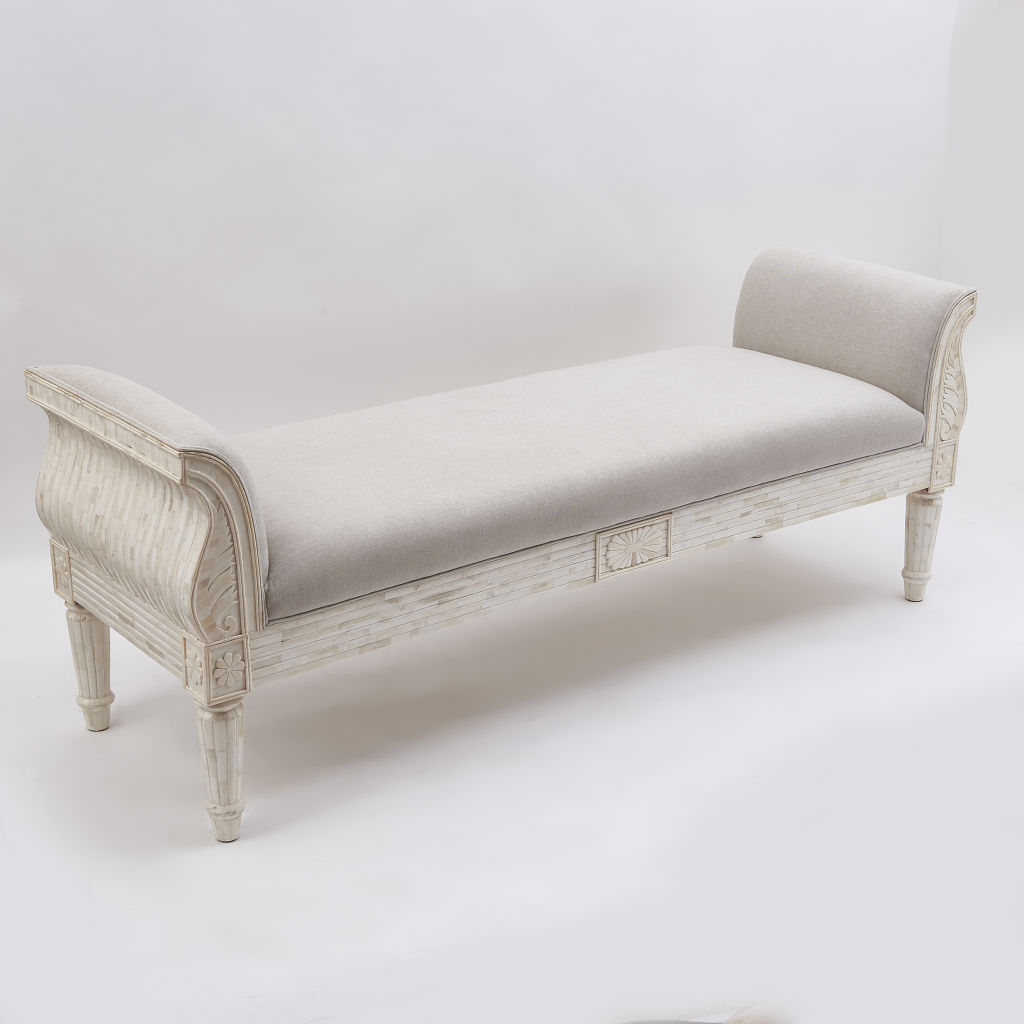 Contemporary Bone Veneer Daybed