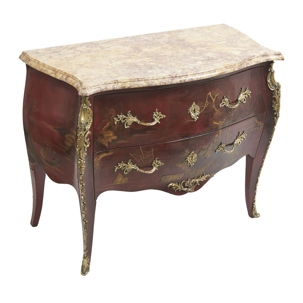French Louis XV Style Chinoiserie Commode