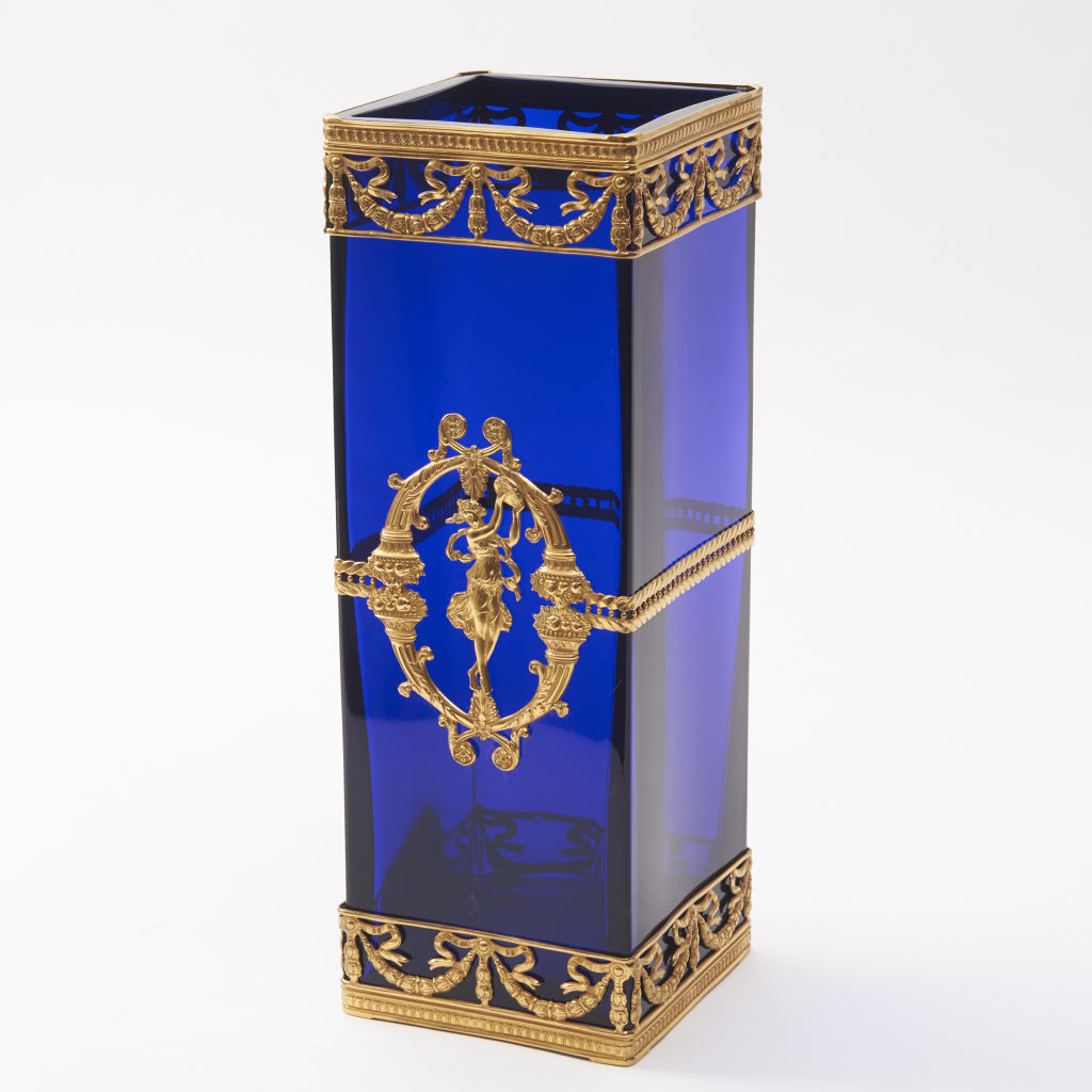French Empire Style Blue Glass Vase