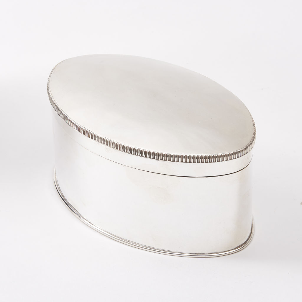 Silver Plate Oval Box