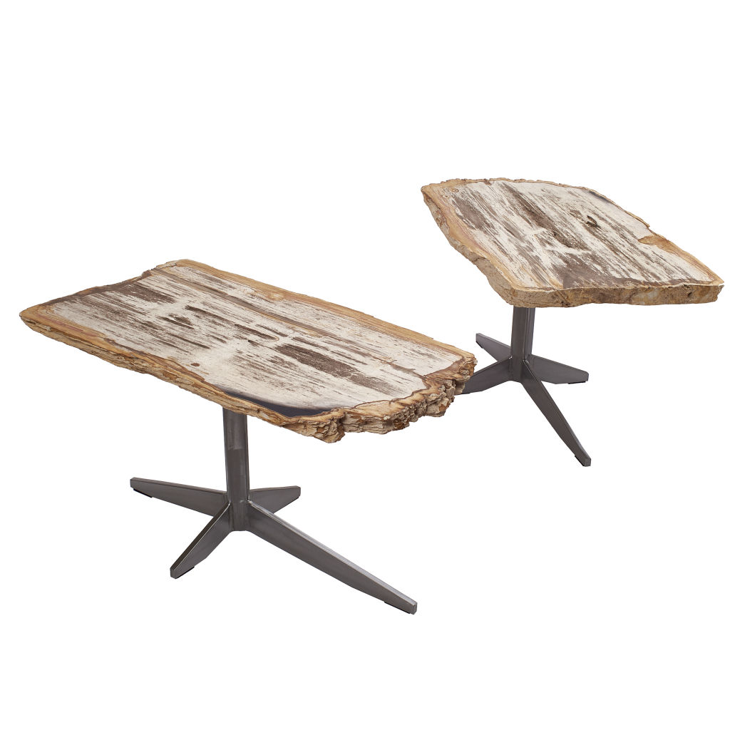 Petrified Wood End Tables