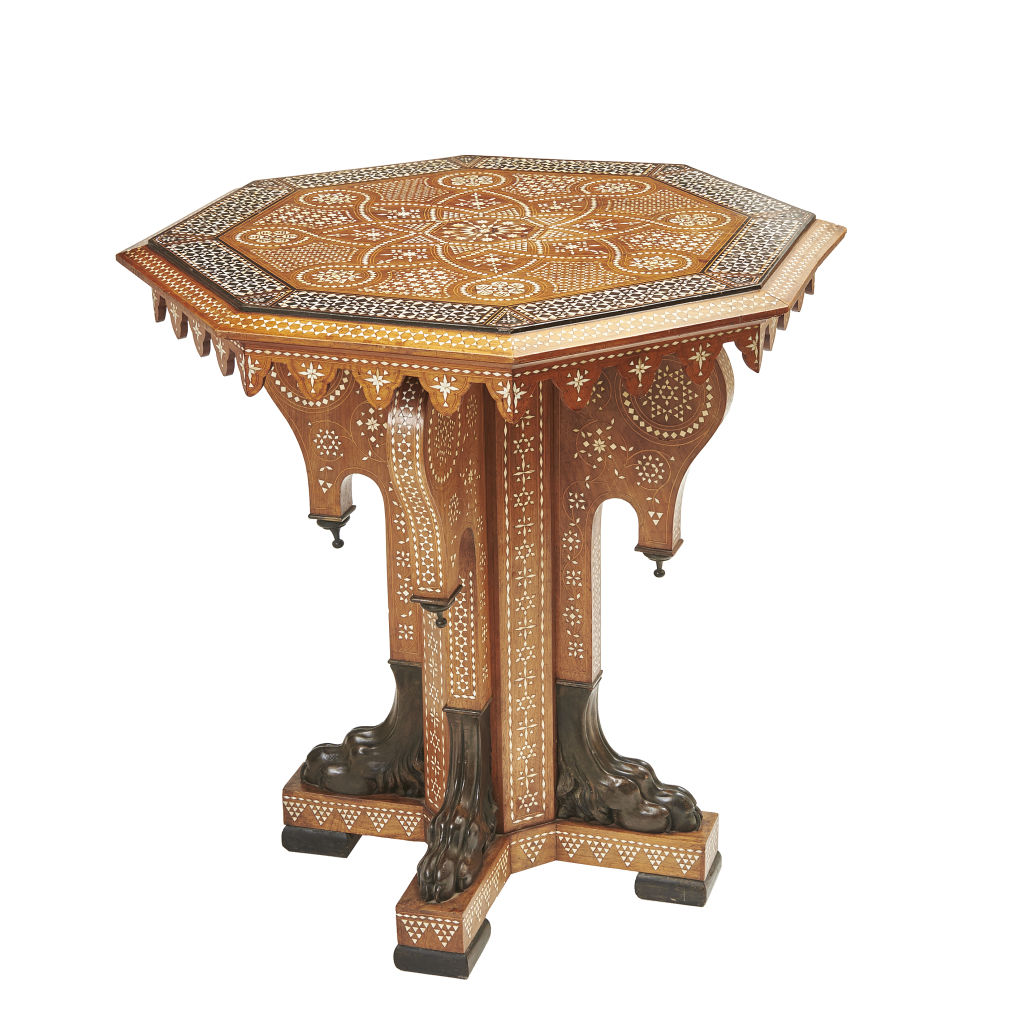 Inlaid Walnut Centre Table