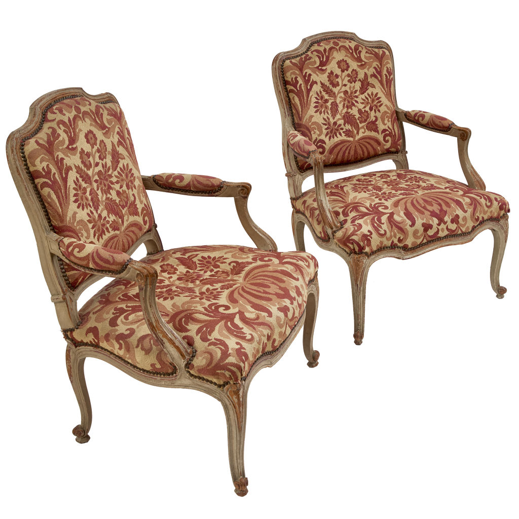 Louis XV Style Needlework Chairs