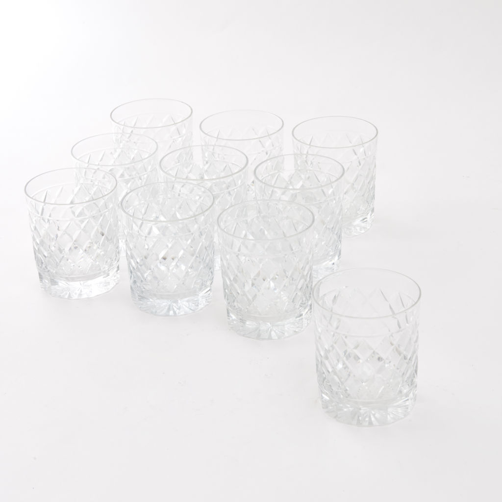 Ten Val St Lambert Whisky Glasses