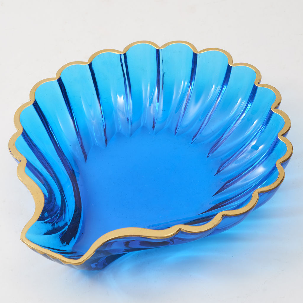 Bright Blue Murano Glass Shell