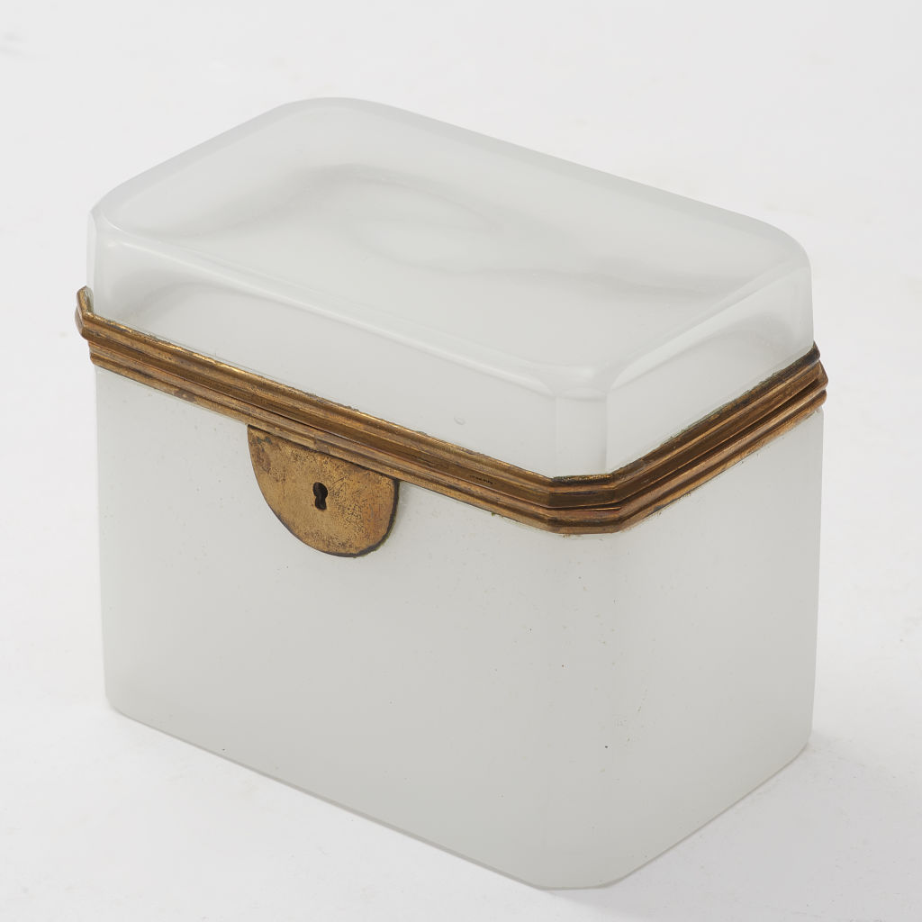 Opaque White Glass Casket