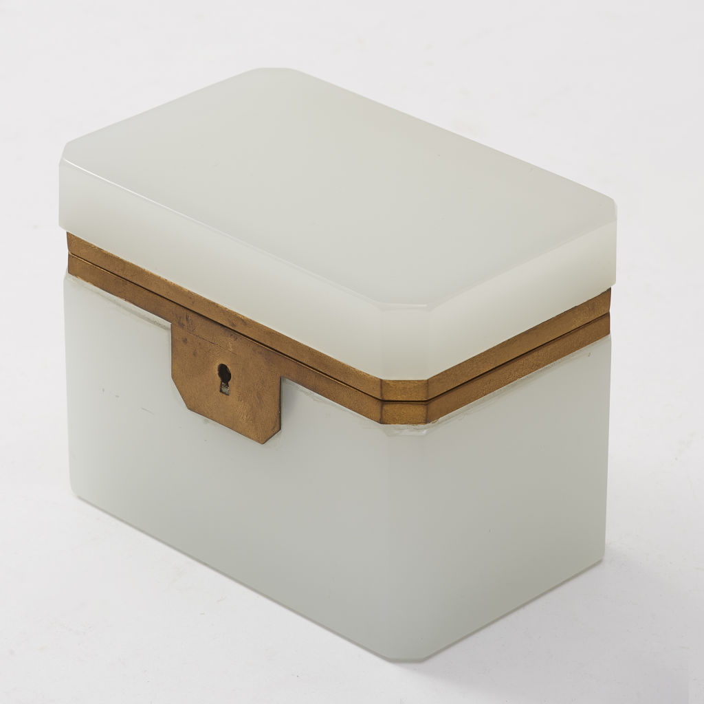 Rectangular White Glass Box