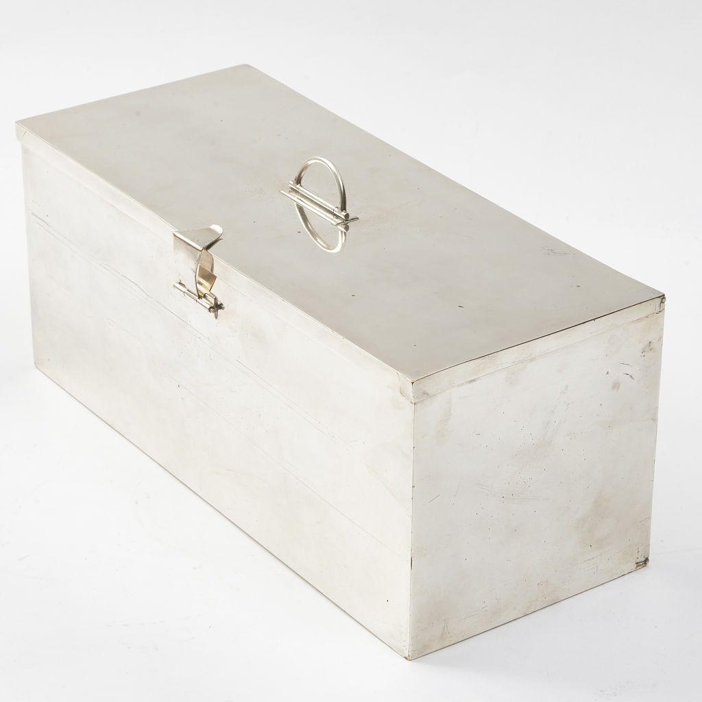 English Silver Plate Picnic Box