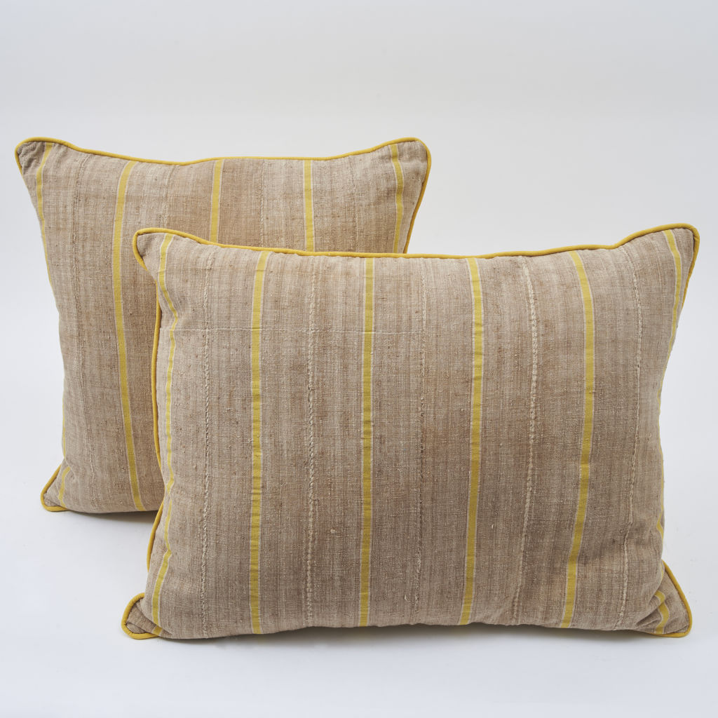Yellow Striped Yoruba Cushions
