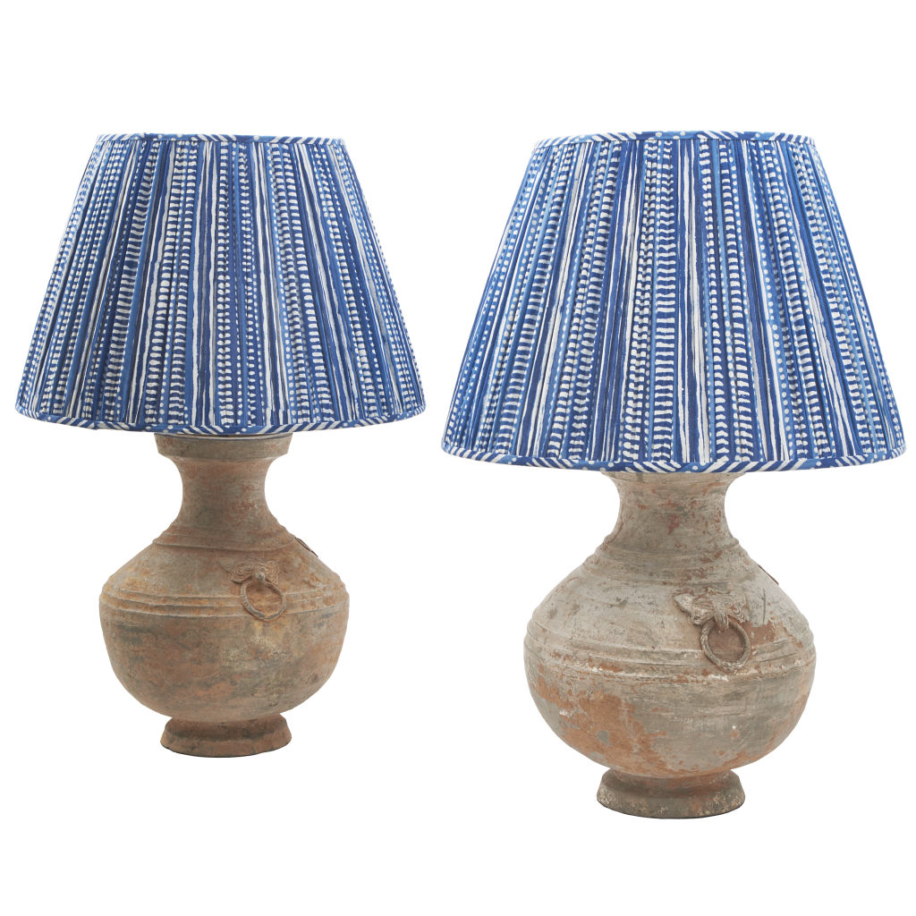 Pain Han Baluster Shaped Lamps