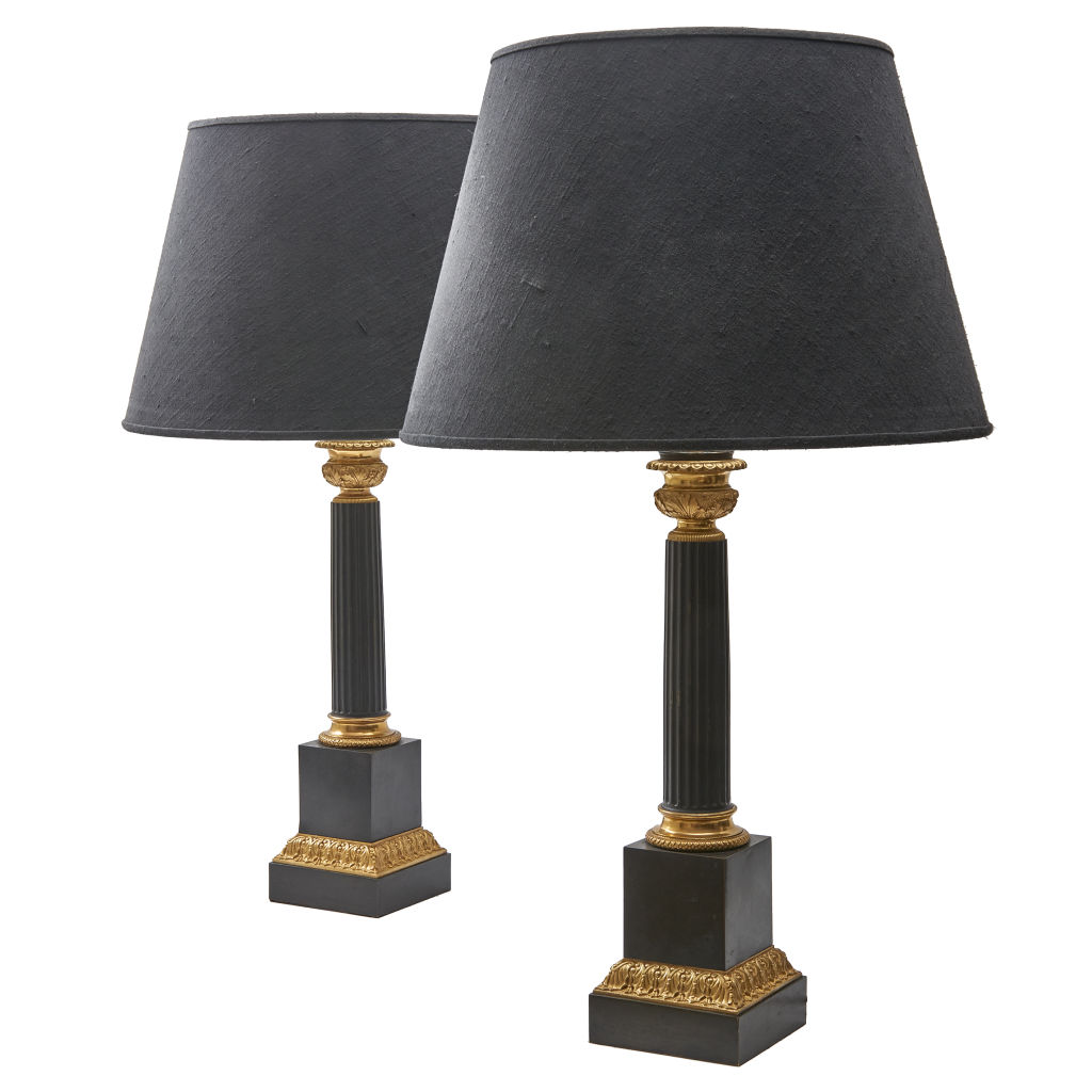Louis Philippe Column Lamps