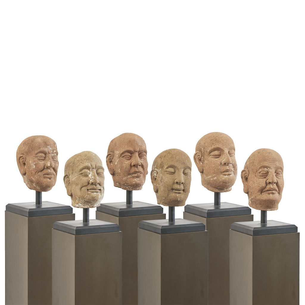 Set of Stone Heads of Lohan