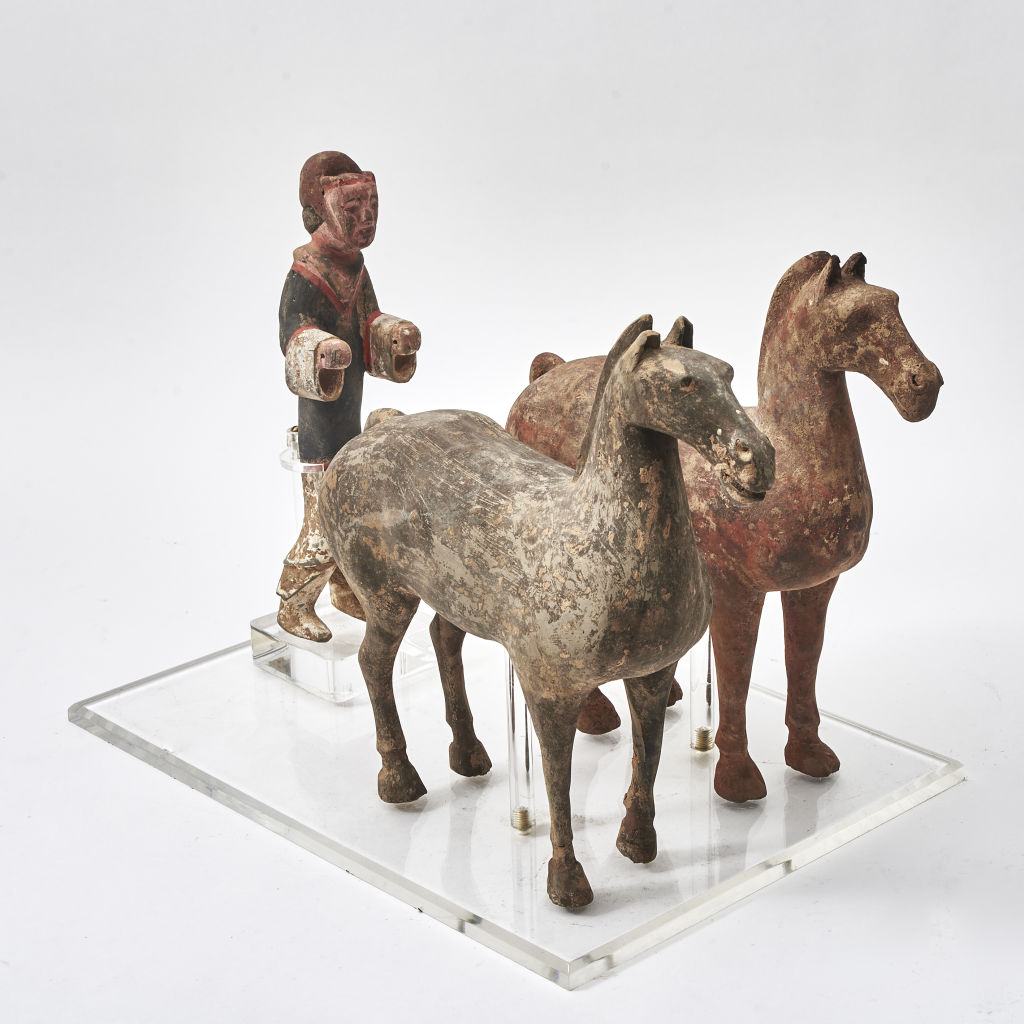 Han Dynasty Pottery Groom & Horses