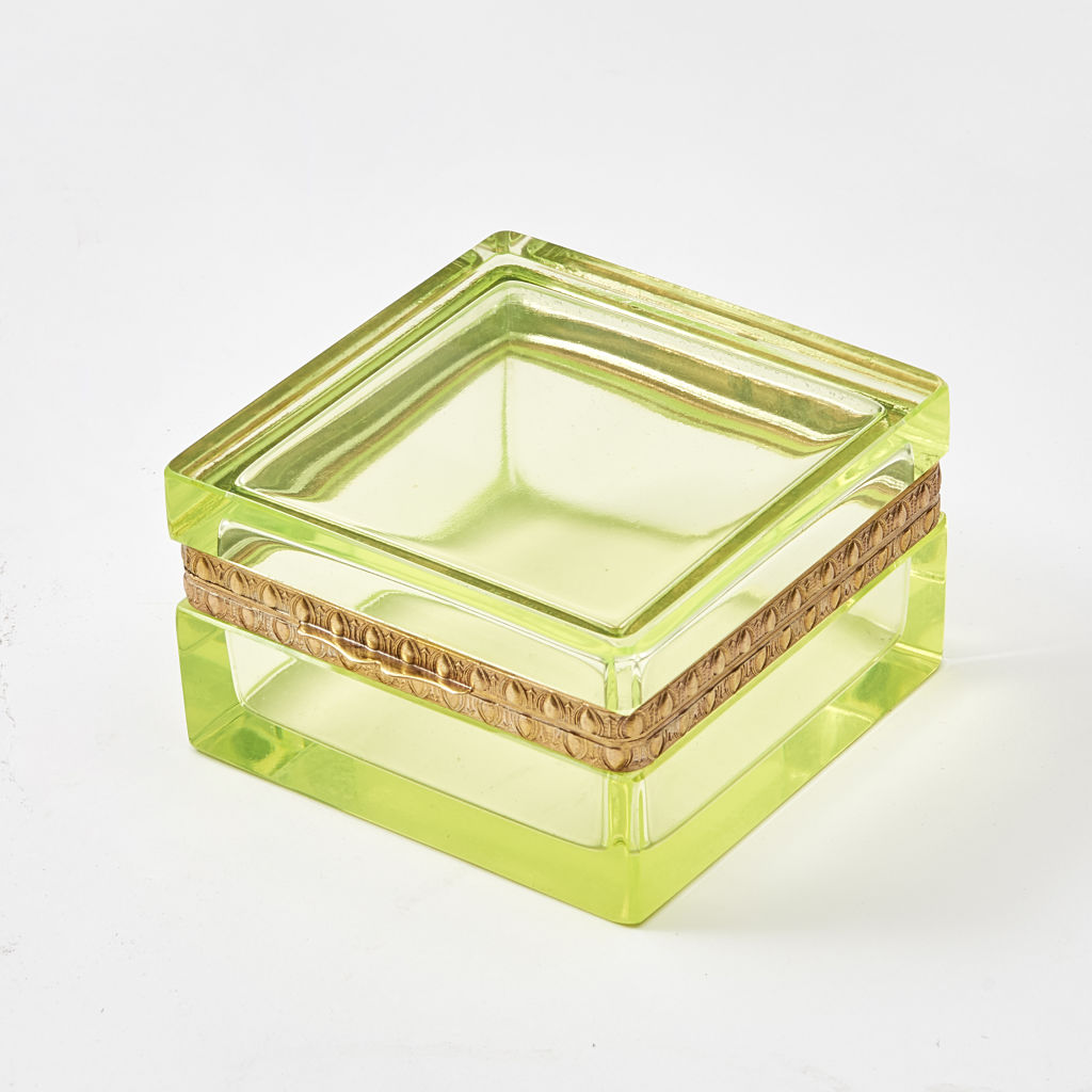 Italian Uranium Glass Box