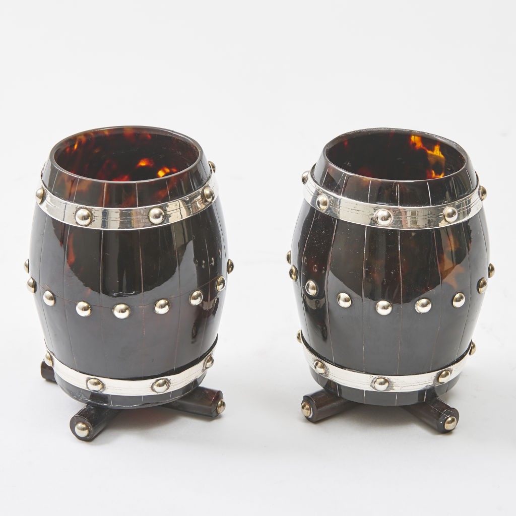 Tortoiseshell and Silver Pen Holders