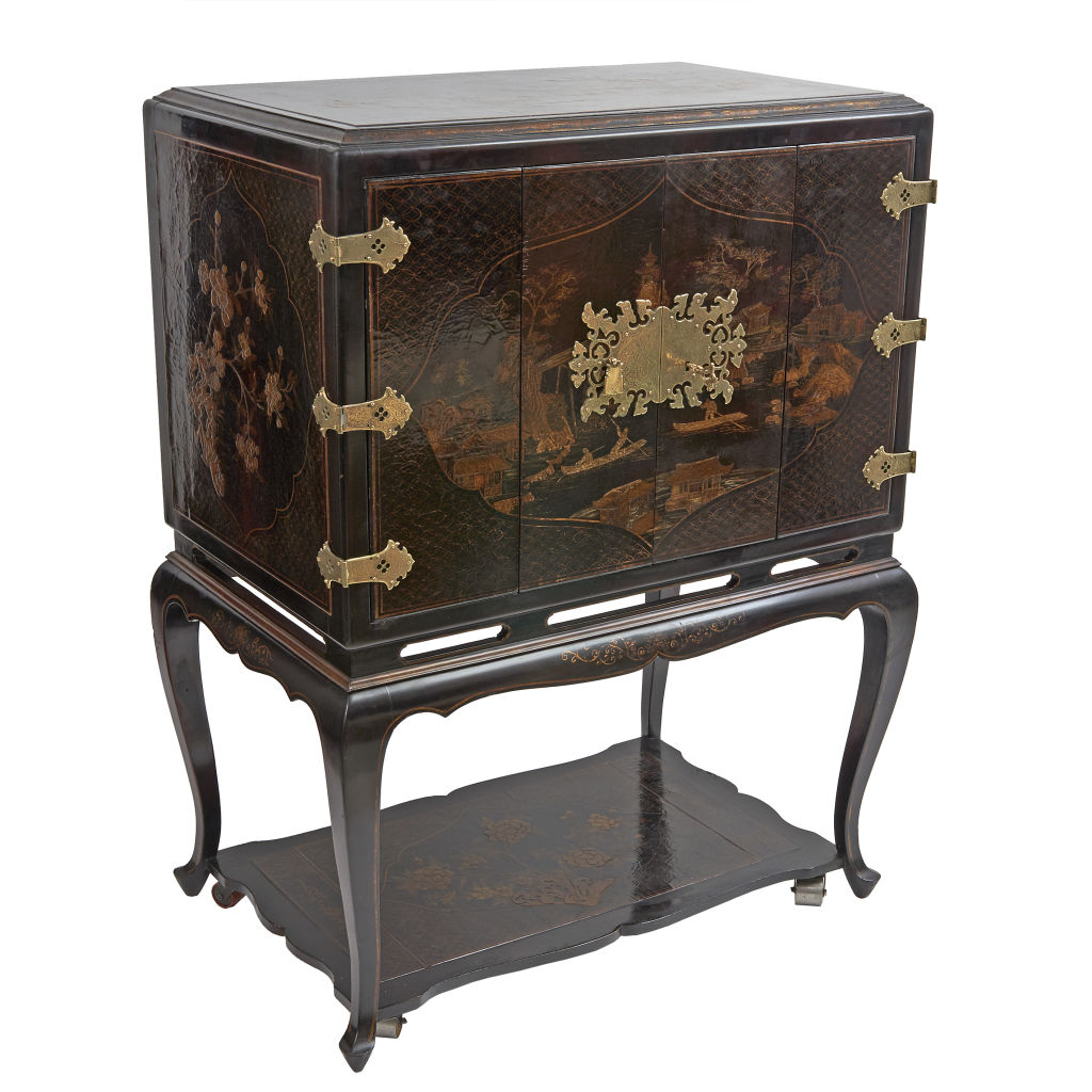Black Chinoiserie Cabinet