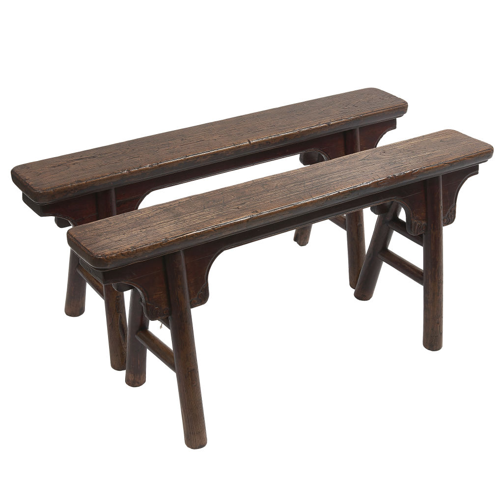 Chinese Elm Trestle Benches