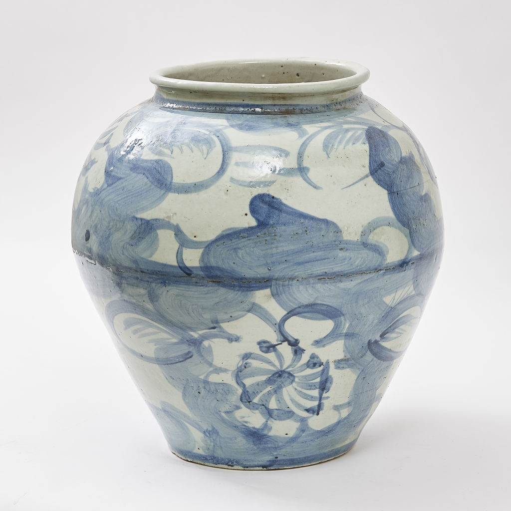 Large Chinese Porcelain Kitchen Jar