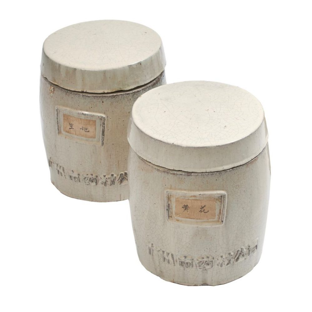 Chinese Stoneware Pharmacy Jars