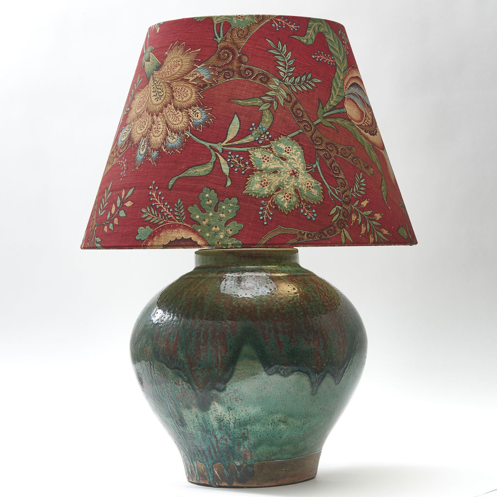 Chinese Green Glazed Lamp