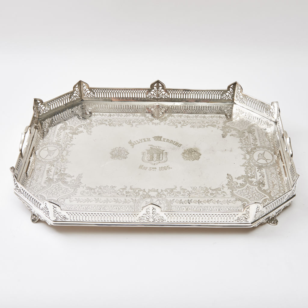 Victorian Silver Plate Tray