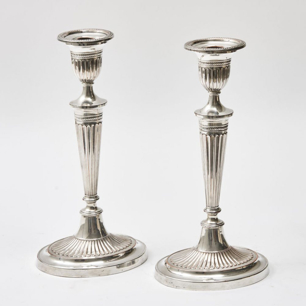 Victorian Silver Plate Candlesticks