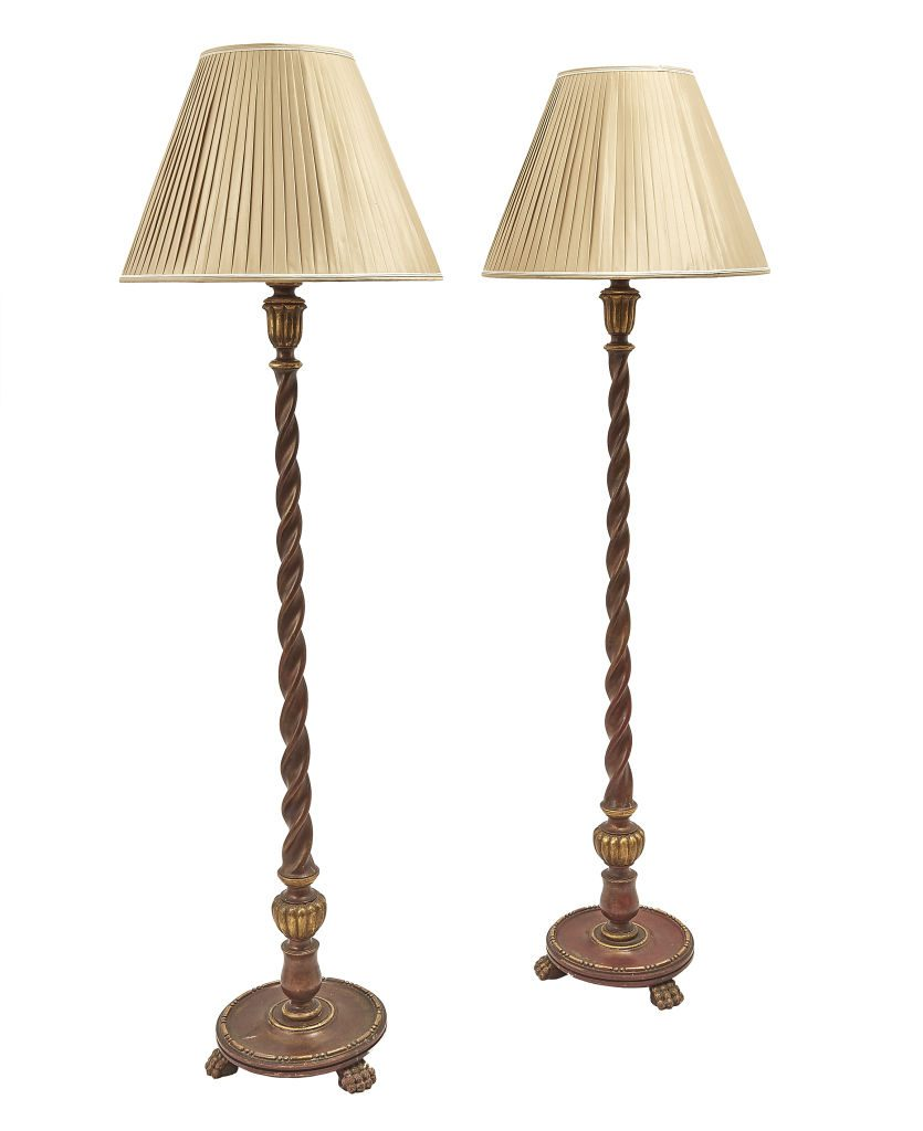 Pair English Standard Lamps
