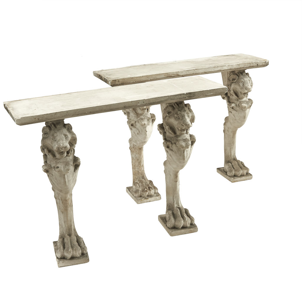 Neo-Classical Plaster Console Tables