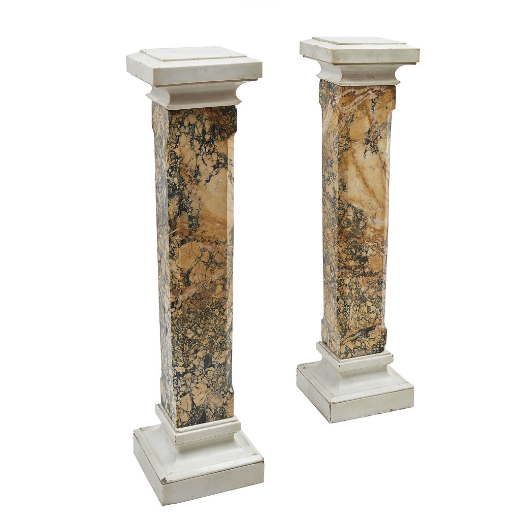 Pair Italian Marble Stands